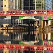 Docklands Railway London Poster