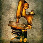 Doctor - Microscope - The Start Of Modern Science Poster by Mike Savad