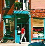 Documenting Vintage Montreal Depanneur Deli Wilensky Montreal Restaurant Paintings Cspandau  Art Poster