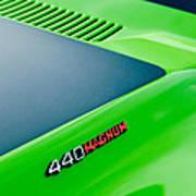 Dodge Challenger 440 Magnum Rt Hood Emblem Poster