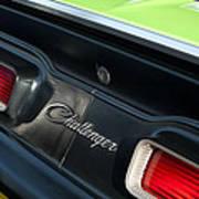 Dodge Challenger 440 Magnum Rt Taillight Emblem Poster by Jill Reger