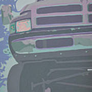 Dodge Ram With Decreased Color Value Poster