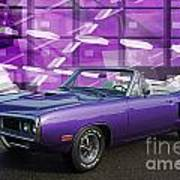 Dodge Rt Purple Abstract Background Poster