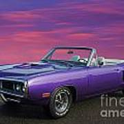 Dodge Rt Purple Sunset Poster