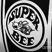 Dodge Super Bee Decal Black And White Picture Poster