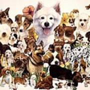 Dog And Puppies Poster by John YATO