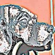 Dog Iron Door Knocker Poster
