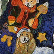 Doggie Xmas Stocking 03 Photo Art Poster