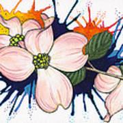 Dogwood Flowers Poster by Nora Blansett