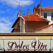 Dolce Vita Cafe In Saint-raphael France Poster