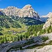 Dolomiti - High Badia Valley Poster