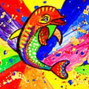 Dolphin Pop Art  Poster