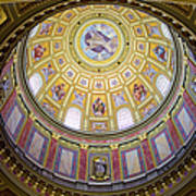 Dome Interior Of The St Stephen Basilica In Budapest Poster