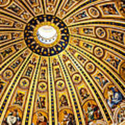 Dome Of St Peter's Basilica Vatican City Italy Poster