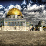 Dome Of The Rock Closeup Hdr Poster