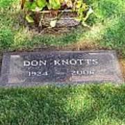 Don Knotts Grave Poster