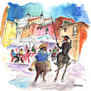 Don Quijote And Sancho Panza Entering Toledo Poster