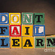Dont Fail Learn Poster