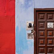 Door Bells And Front Door Of Old House Poster