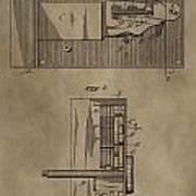 Door Lock Patent Poster