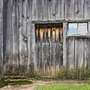 Barn Door With A Window Poster