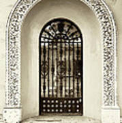 Door With Decorated Arch Poster
