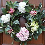 Door Wreath Poster