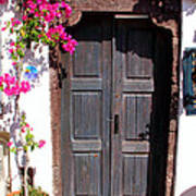 Doorway Oia Santorini Greek Islands Poster