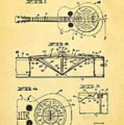 Dopyera Dobro Guitar Patent Art 1933 Poster