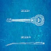 Dopyera Dobro Hawaiian Lap Steel Guitar Design Patent Art 1939 Blueprint Poster