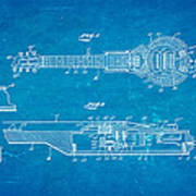 Dopyera Dobro Hawaiian Lap Steel Guitar Patent Art 1939 Blueprint Poster