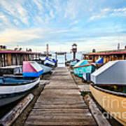 Dory Fishing Fleet Newport Beach California Poster by Paul Velgos