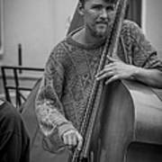 Double Bass Player Poster by David Morefield