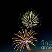 Double Fireworks Blast Poster by Robert Bales