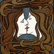 Double Medusa Illustration Panel Poster