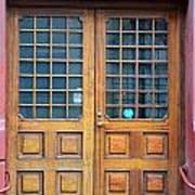 Double Wood Door Iceland Poster