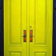 Double Yellow Doors Poster
