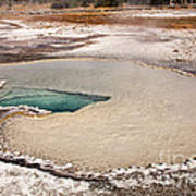 Doublet Pool In Upper Geyser Basin In Yellowstone National Park Poster