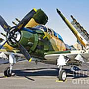 Douglas Ad-5 Skyraider Attack Aircraft Poster