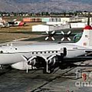 Douglas C-54e Firefighting Airtanker N460wa Poster