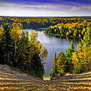 Down Hill Into Fall Poster