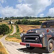Down On The Farm - International Harvester S-100 Poster