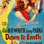 Down To Earth, Us Poster Art, From Left Poster
