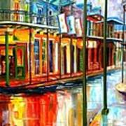 Downpour On Bourbon Street Poster by Diane Millsap