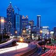 Downtown Atlanta At Dusk Poster