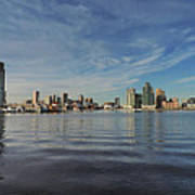 Downtown Baltimore And Harbor East Skylines Poster