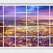 Downtown Boulder Colorado City Lights Sunrise  Window View 8lg Poster
