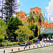 Downtown Cuenca Ecuador Poster