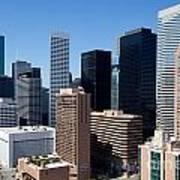 Downtown Houston Texas Poster