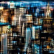 Downtown II - Dark Poster by Hannes Cmarits